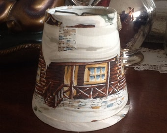 Chandelier lampshade chalet or cottage shade sconce shade
