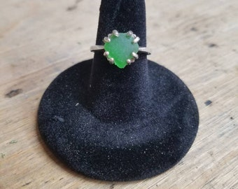 Sterling Silver Beach Glass Ring Size 7