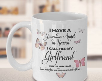 """Memorial Gift, I Have a Guardian Angel in Heaven, I Call Her Girlfriend, Forever in My Heart I see butterflies and know """" Remembrance Gifts"""