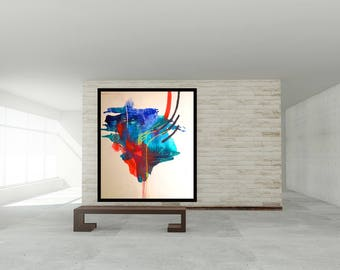 Original abstract painting, Large Art 48X48 Abstract Painting, Painting on Canvas, Modern art home decor