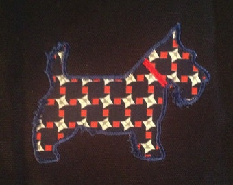 Scottie dog (Scottish Terrier) machine embroidery and applique design in 11 different styles (filled and applique)