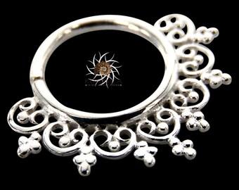 Heart Septum Ring - Septum Jewelry - Septum Piercing - 18G Septum - 16G Septum - Tribal Septum Ring - Indian Septum Ring (OS12)