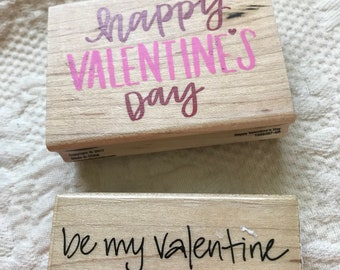 2 Love Valentines Day Rubber Stamps - brand new