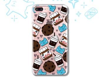 iPhone X Case iPhone 7 8 6 5 5S SE Case Samsung S9 S8 S7 S6 Case iPhone 8 7 6 Plus Case Galaxy S9 S8 Plus Case Cat Kawaii Food Gift cute fun