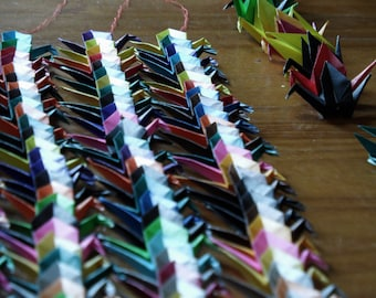 Personalised Origami Senbazuru (1000 Origami Cranes) For Weddings/Gifts Made to Order
