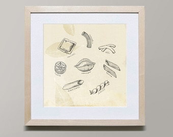 Pasta Series 2 by Iveta Abolina -  Illustration Print