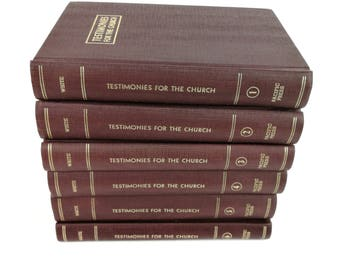 Testamonies for the Church 6 Volumes 1-6 SDA 7th Day Adventist Ellen G White HC