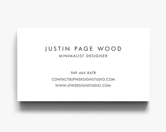 Business Card Design, Business Card Template, Business Cards, Calling Cards, Modern Business Cards, Calling Card, Minimalist Business Cards