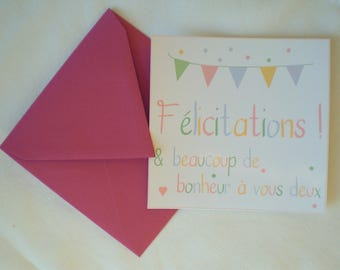 Pastel card with envelope color