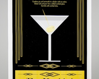 The Martini Tea Towel