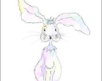 Pastel Bunny      Sketch/Watercolour print