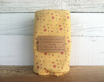 Organic Baby Bedding, Crib Sheet, Changing Pad Cover - Sunny Yellow Dots