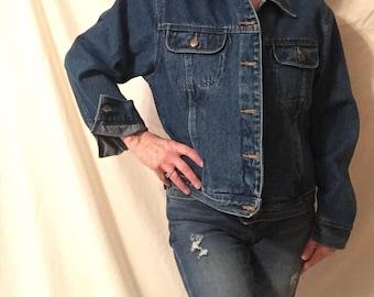 Jeans Bill Blass 80's Jean Jacket Blue Jeans Vintage Glam Jacket womens Denim coat womans spring coat 2018 Denim Trend Designer Denim Jacket