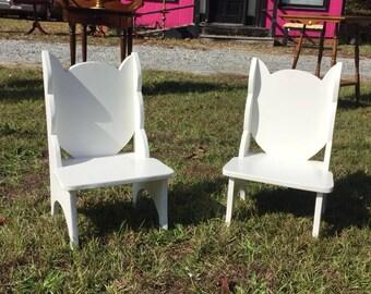 Cat Chairs Pair