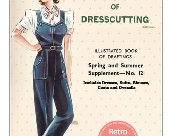 The Haslam System of Dressmaking No. 12 1940's - PDF Booklet Instant Download