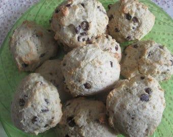 Scones/Cranberry, Strawberry , or Chocolate Chip Scones , made with Irish Scone Recipe/1Dozen Plus 1 for a Bakers Doz