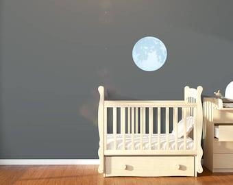 Small Moon Wall Sticker