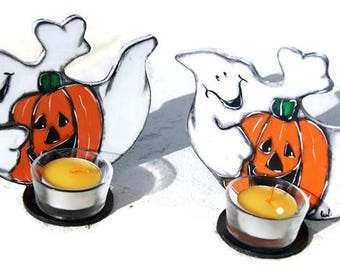 Little Ghost Light - Halloween Ghost Candles - Two Ghostly Halloween Phantoms