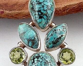 TURQUOISE pendant turquoise, turquoise PENDANT jewelry pendant, turquoise jewelry, natural gemstone jewelry, h9.8