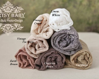 QUICK SHIP 1 yard listing 30 colors available neutral colors Cotton Gauze Swaddle Blanket Newborn Prop Cheesecloth Wraps/Newborn Wrap