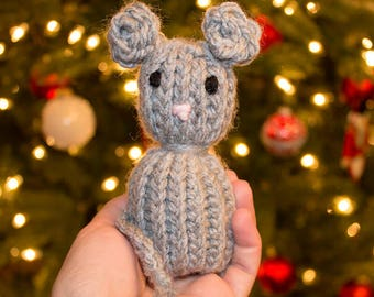 Knit Mouse Catnip Cat Toy