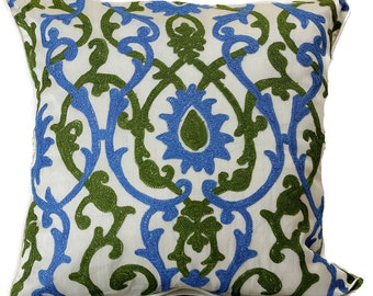 "Jacquard Damask Pillow Covers, 18"" X 18"", Set of 2"