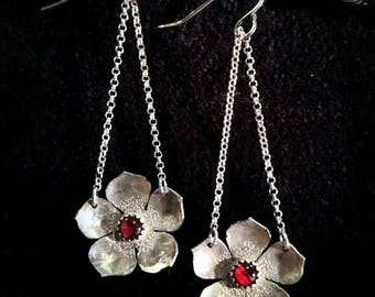 Sterling Silver & Abalone Hanging Flowers