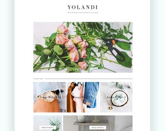 Responsive Premade Blogger template + Custom Homepage & Features  - Yolandi