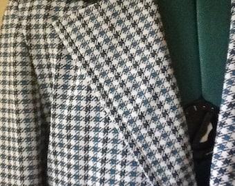 Men's Jacket,Polyester,Size 38,Men's Sport Coat, Men's Polyester Plaid Sport Coat