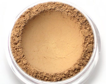 """Light Golden Bronzer Powder - """"Sunshine"""" - light tan with golden sheen, Vegan Mineral Bronzing Powder Net Wt 4.5g jar"""