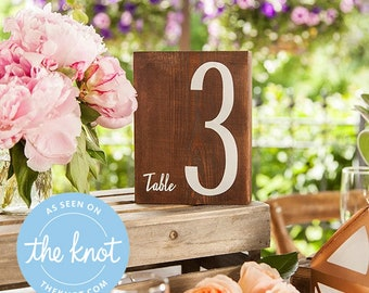 Wedding Reception Table Numbers