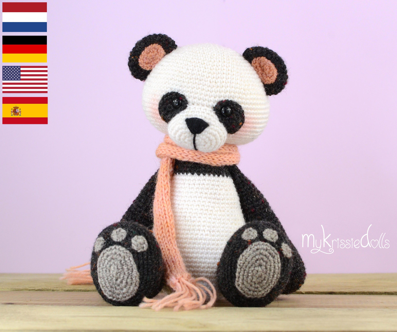 Схема вязания мишки панда 29