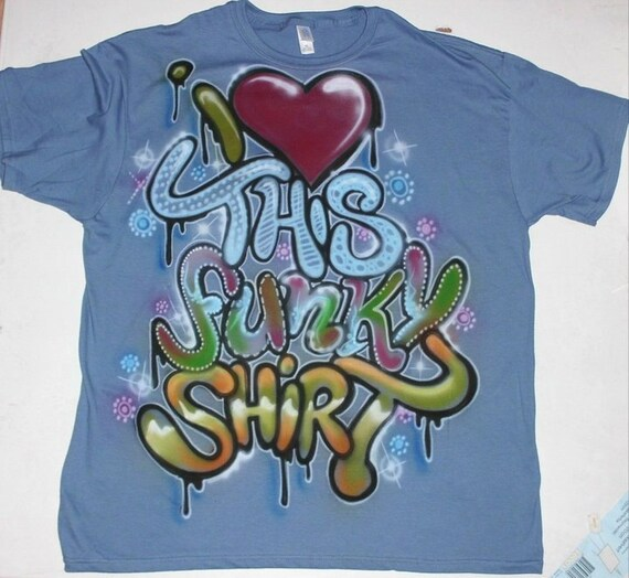 Custom Airbrush Graffiti T-Shirt