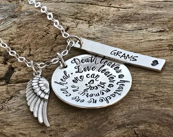 Memorial Jewelry | Custom Remembrance Necklace | Funeral Gift | Loss of husband | Loss of mom | Loss of sister | Loss of Brother