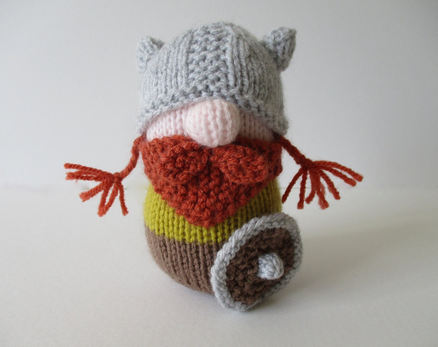 Erik the Viking toy knitting patterns from fluffandfuzz on Etsy Studio