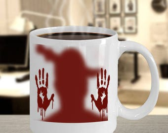zombie coffee mug-zombies coffee mugs-coffee mug zombie-walking dead zombie coffee mug