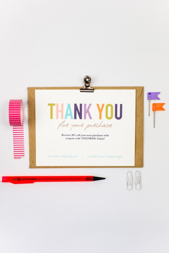 Business thank you cards template instant download naturally accmission Choice Image