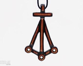 Reiki Jewelry - Harth - Karuna Reiki Symbol Necklace - Hand Carved Wood Pendant - Reiki Healing Art - Spiritual Gifts