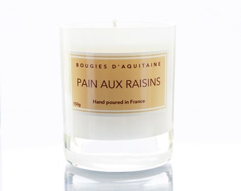 "Soy Candle ""Pain Aux Raisins"" - made in France."