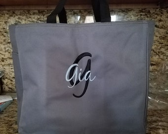 Personalized Tote Bag ,Bridesmaid tote bag , bridesmaid gifts , beach bag , bachelorette party gift , wedding tote bags, monogrammed tote