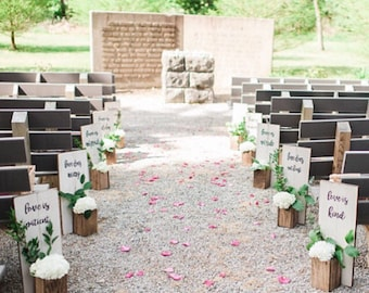 Wedding Aisle Decor 1 Corinthians 13:4-7
