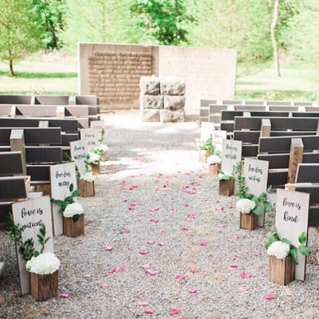 Wedding aisle decor 1 corinthians 134 7 zoom junglespirit Image collections