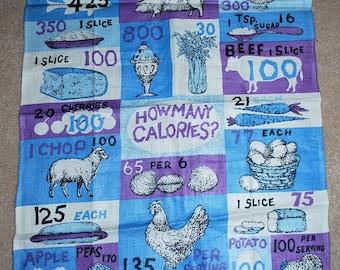 Vintage Calories Kitchen Towel-Designer Luther Travis
