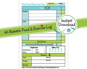 Diet And Exercise Journal Pdf File Printable