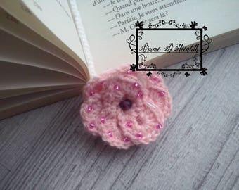 Bookmark pink roses