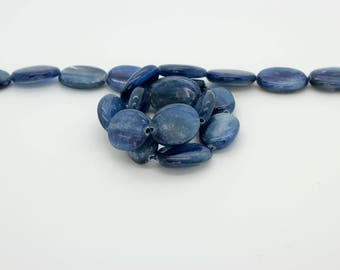 Nautral Kyanite Flat Oval Smooth Loose Gemstone Loose Bead Beads