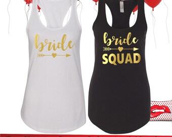 Bachelorette party shirts,Bride Squad shirts, Bridal party shirts, Bridesmaid gift, bridesmaid shirt, bridal shirts, Bridesmaid tank