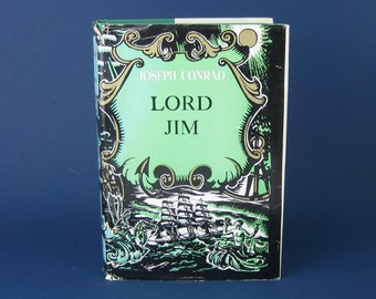 Lord Jim by Joseph Conrad, vintage hardcover book, 417 pages, published in 1920 by Doubleday, Book Club Edition.