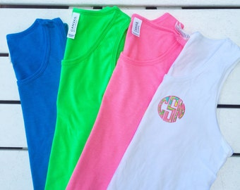 Youth Lilly Pulitzer Monogrammed Applique Bro Tank