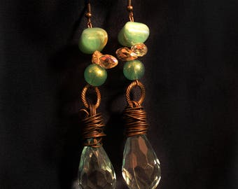 Green Wire Earrings